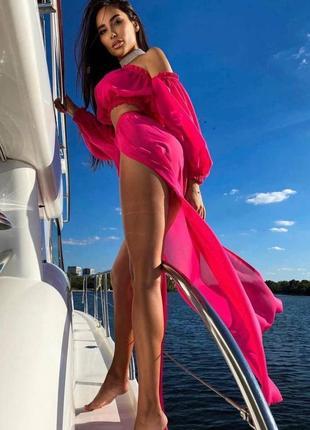 Пляжный шифоновый костюм 💞3 фото