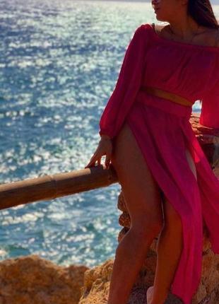 Пляжный шифоновый костюм 💞4 фото