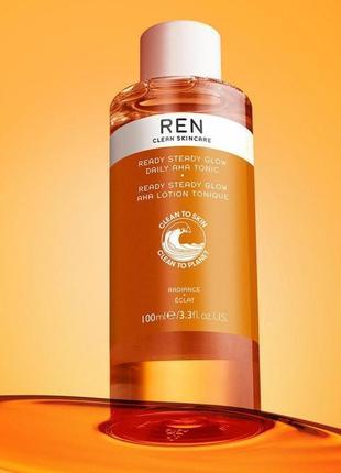 Тоник для сияния кожи ren clean skincare skincare ready steady glow daily aha tonic
