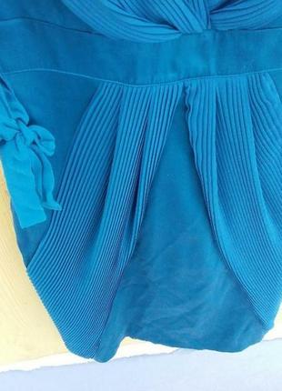 💯шелковое платье оригинал плиссе изумруд karen millen8 фото