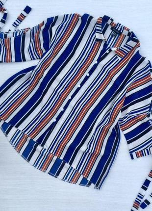 Стильная блузка,рубашка  оверсайз в полоску new look