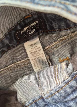 Крутой джинсовый комбинезон next на 3-4 года2 фото