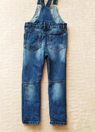 Крутой джинсовый комбинезон next на 3-4 года3 фото