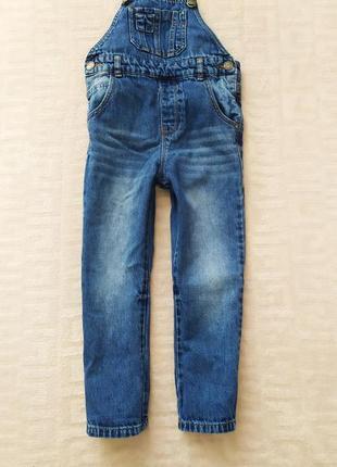 Крутой джинсовый комбинезон next на 3-4 года