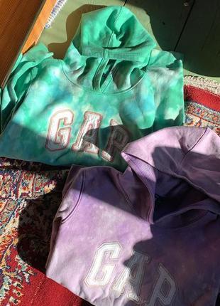 Худи gap custom кастом тай дай винтаж tie dye