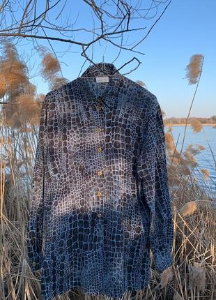 Винтажная рубашка блуза basler вінтаж вінтажна анімалістична