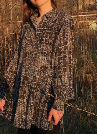 Винтажная рубашка блуза basler вінтаж вінтажна анімалістична3 фото