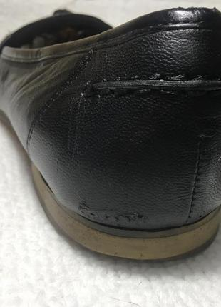 Лоферы, туфли кожаные.9 фото