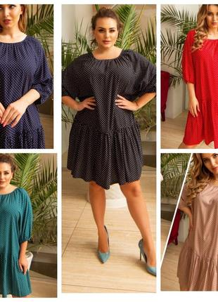 Женское платье 👗 штапель. 11 разных оттенков. 46-56размеры.2 фото