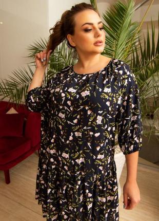 Женское платье 👗 штапель. 11 разных оттенков. 46-56размеры.10 фото