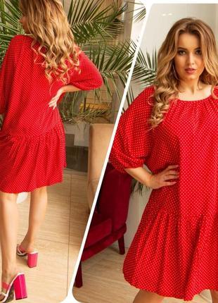 Женское платье 👗 штапель. 11 разных оттенков. 46-56размеры.5 фото