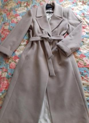 """Пальто выполнено  из  итальянского  кашемира.классика , цвет """" какао """""""