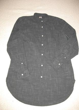 Хлопковая длинная рубашка asos