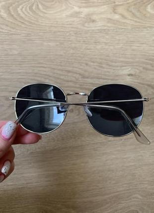 Стильные круглые солнцезащитные очки в стиле ray ban2 фото
