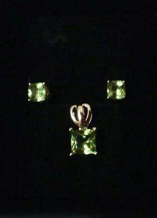 Серебряный кулон подвеска с переливчатым султанитом (султанит, кианит, диаспор, цаворит)10 фото