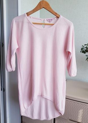 Розовая блуза джемпер со съемным воротником xs s  phase eight7 фото