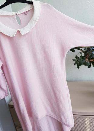 Розовая блуза джемпер со съемным воротником xs s  phase eight3 фото
