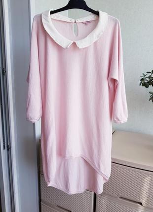 Розовая блуза джемпер со съемным воротником xs s  phase eight6 фото