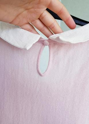 Розовая блуза джемпер со съемным воротником xs s  phase eight4 фото