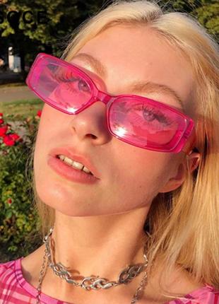 Очки окуляри винтажные стильные в стиле 90-х трендовые неон розовые имиджевые хайп новые
