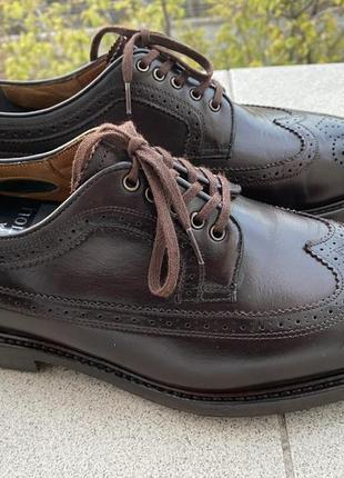 Massimo dutti  дерби броги туфли мужские кожаные