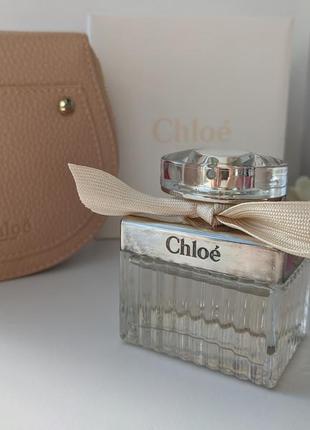 Набор chloe eau de parfum chloé 50ml + косметичка chloe в подарок
