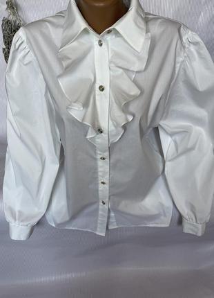 Роскошная , белая рубашка