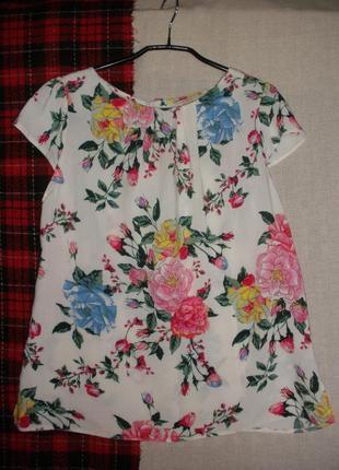 Летняя цветочная блузка блуза топ billie&bllossom by dorothy perkins вискоза