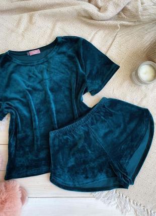Акция‼️ плюшевая пижама футболка и шорты, комплект для дома и сна