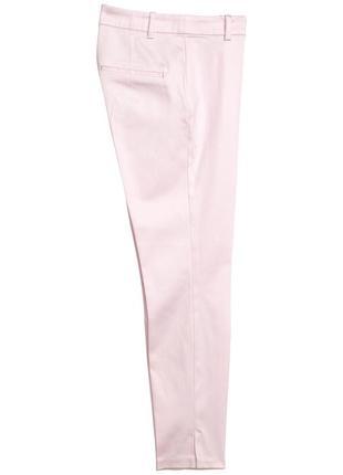 Пудровые узкие брюки h&m.4 фото