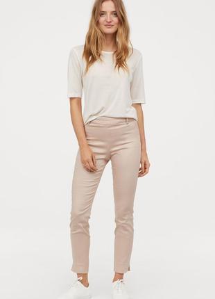 Пудровые узкие брюки h&m.6 фото