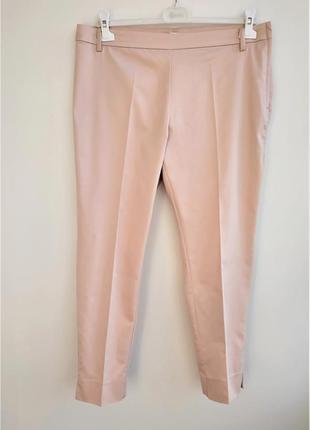Пудровые узкие брюки h&m.2 фото