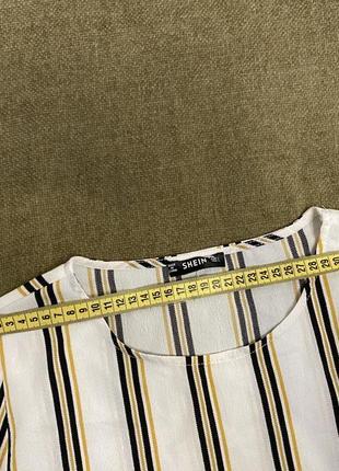 Модная блузка в полоску5 фото