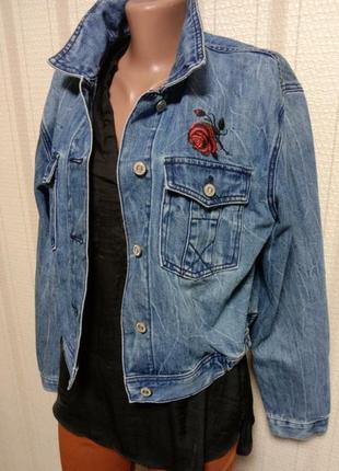 Dawntown классическая джинсовая куртка с качественной вышивкой на груди