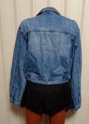 Dawntown классическая джинсовая куртка с качественной вышивкой на груди5 фото