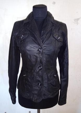 Кожаный пиджак tom tailor