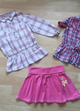 Бузка, туничка , рубашка для девочек на 2-3 года на рост 92-98 см