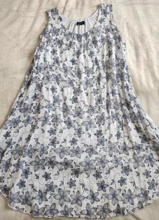 Сарафан летнее платье легкое свободное цветочный принт можно для беременных
