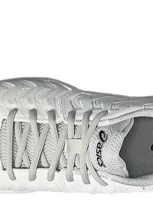 Кроссовки теннисные asics gel resolution 7 белые с серым silver white6 фото