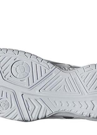 Кроссовки теннисные asics gel resolution 7 белые с серым silver white5 фото