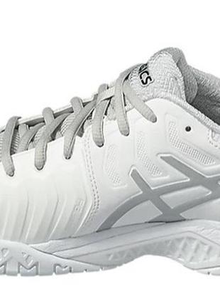 Кроссовки теннисные asics gel resolution 7 белые с серым silver white4 фото
