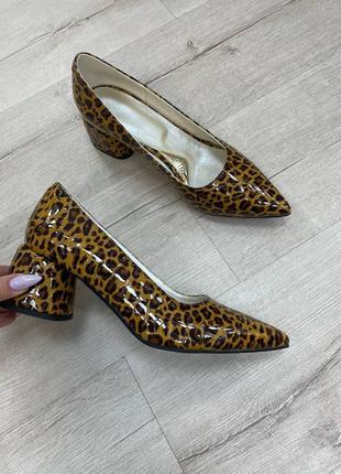 Эксклюзивные туфли леопард натуральная итальянская кожа и замша люкс