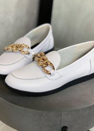 Туфли натуральные с цепью