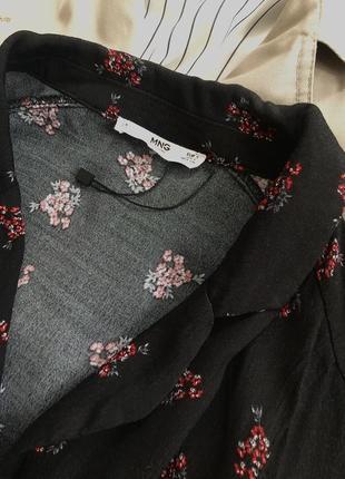 Платье рубашка в цветах размера s-m3 фото