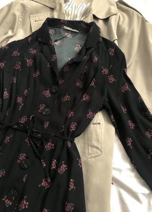 Платье рубашка в цветах размера s-m2 фото