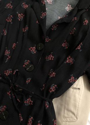 Платье рубашка в цветах размера s-m4 фото