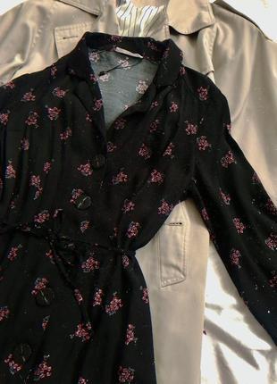 Платье рубашка в цветах размера s-m