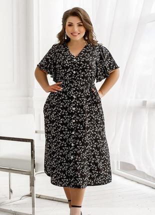 Платье-сарафан на лето размеры 50-52, 54-56, 58-60, 62-64, 66-68 (2246)2 фото