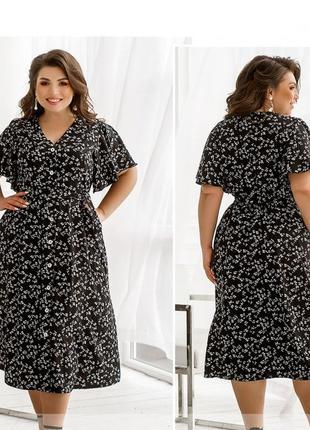 Платье-сарафан на лето размеры 50-52, 54-56, 58-60, 62-64, 66-68 (2246)4 фото