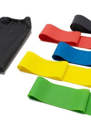 Резинки для фитнеса и йоги набор резинок  фитнес спорт тренажер эспандеры